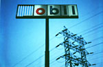 Mobil Sign After Hurricane