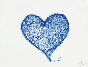 Prussian Blue Heart