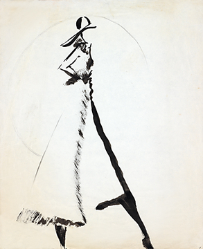 Fashion Illustration Hat and Coat 2