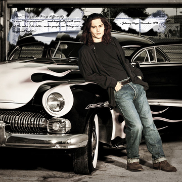 Johnny Depp with Buick in Venice