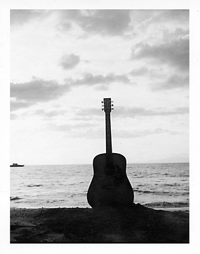 Guitar In The Sand